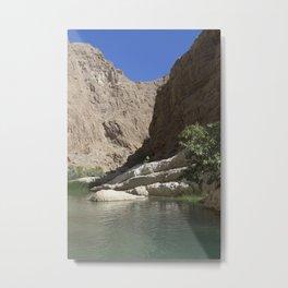 Wadi Shab, Oman Metal Print