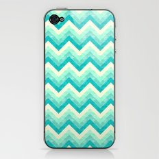 Chevron - Mint iPhone & iPod Skin