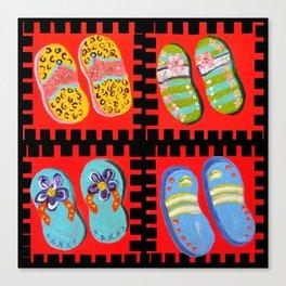 Flip Flops Times Four Canvas Print
