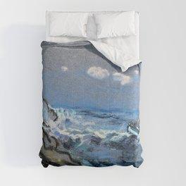 Boat In Distress - Arthur Bowen Davies Comforters