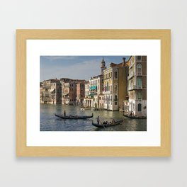 Gondolas And Palaces Of Venice Grand Canal Framed Art Print