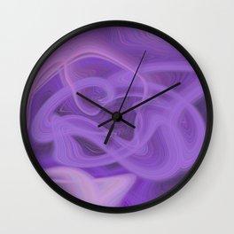 Purple daze 7 Wall Clock