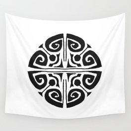Tatouage Rond - round tatoo mandala - 3 Wall Tapestry