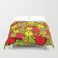 monsters Duvet Covers featuring Monsters by Nastya Bo