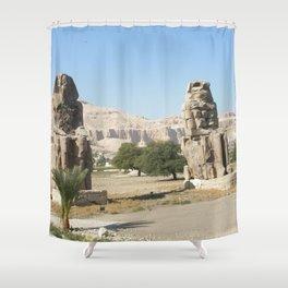 The Clossi of memnon at Luxor, Egypt, 2 Shower Curtain