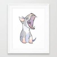 bull terrier Framed Art Prints featuring Bull terrier by Suzanne Annaars