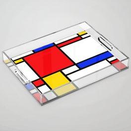 Piet Pattern Acrylic Tray