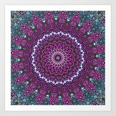 purple and blue kaleidoscope Art Print