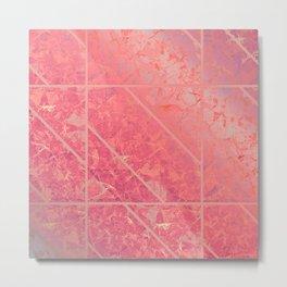 Pink Marble Texture G281 Metal Print