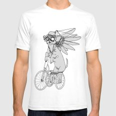 Steam Punk Chihuahua Mens Fitted Tee SMALL White