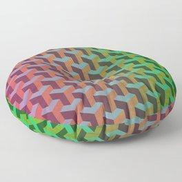 Cityscape: Orderly Chaos Floor Pillow