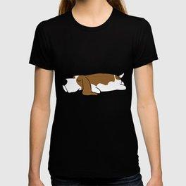 Lazy sweet Basset Hound Doggy sleeping T-shirt
