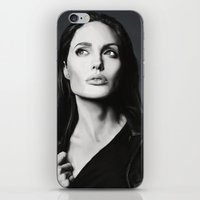angelina jolie iPhone & iPod Skins featuring Angelina Jolie by Liliana Corradini