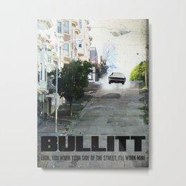 Bullitt travel movie art Metal Print