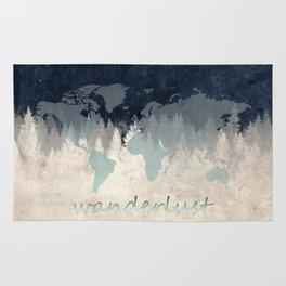 world map wanderlust forest 2 Rug