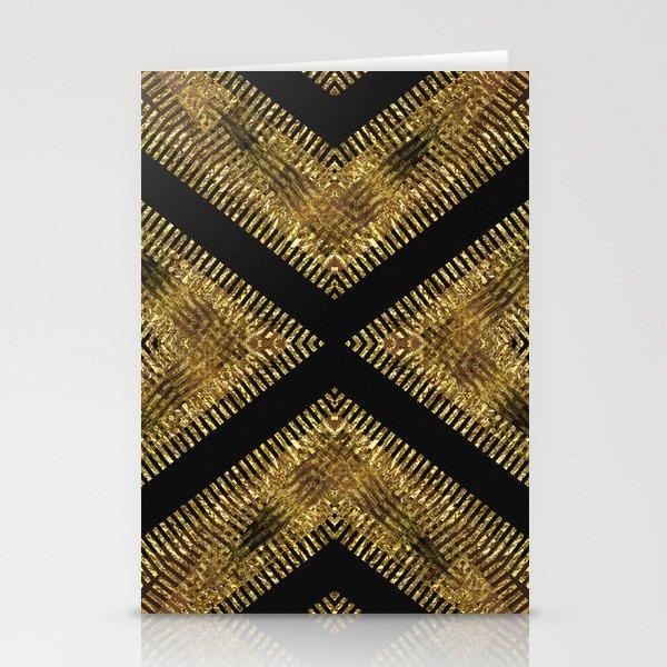 Black Gold | Tribal Geometric Stationery Cards
