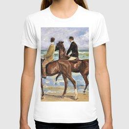 12,000pixel-500dpi - Max Liebermann - Horseman on the beach to the left - Digital Remaster T-shirt