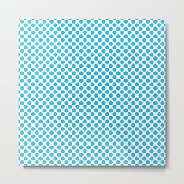 Cyan Vivid Arctic Blue Dots 2cb9d9 Contemporary Modern Décor Metal Print