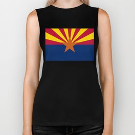 State flag of Arizona, Authentic HQ image Biker Tank