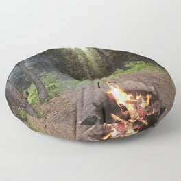 Backpacking Camp Fire Floor Pillow