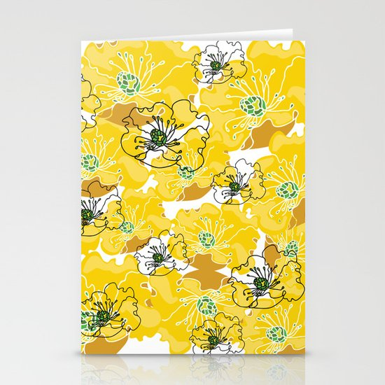 yellow marzipan flowers Stationery Cards
