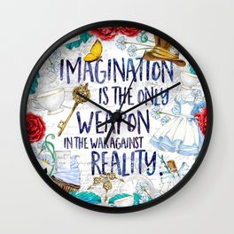 Alice in Wonderland - Imagination Wall Clock