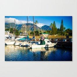 Lahaina Harbour Marina Maui Hawaii Canvas Print