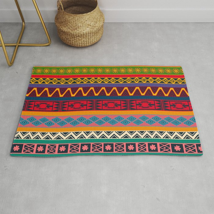 African pattern No4 Rug