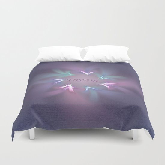 Circle Ribbon Dream Duvet Cover