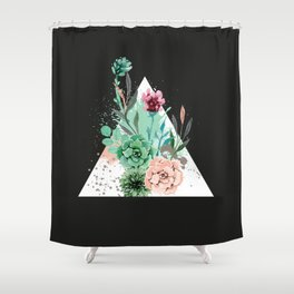 Suculetas Zen Shower Curtain