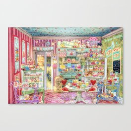 The Little Cake Shop Canvas Print