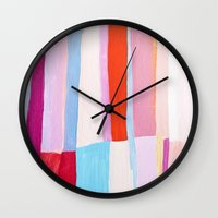library Wall Clocks featuring Library II by Emily Rickard
