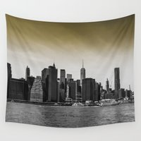 manhattan Wall Tapestries featuring Manhattan by Forand Photography
