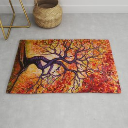 The Many Colors of Trees Rug