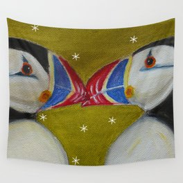 Puffins Wall Tapestry