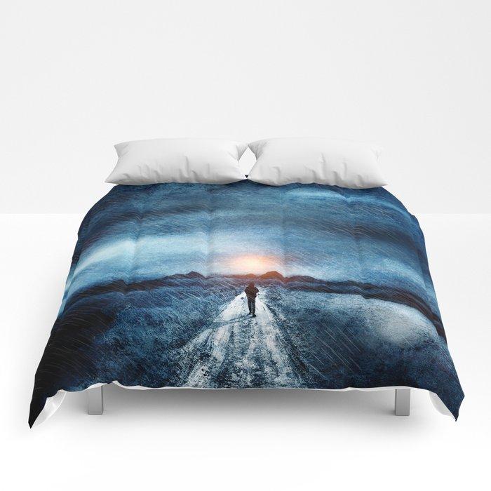 it's raining again Comforters