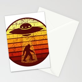UFO AND BIGFOOT Retro Sci-Fi Alien Space Gift Stationery Cards