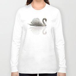 Geometric Swan Long Sleeve T-shirt