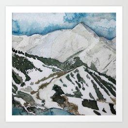 Snowmass Ski Area Watercolor Art Print