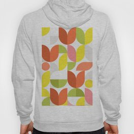 Mid Modern Geometric Bloom Pattern Hoody