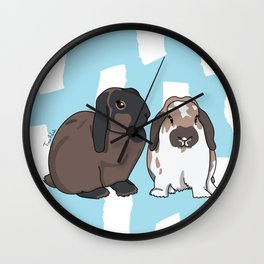 Oreo and Teddy Wall Clock