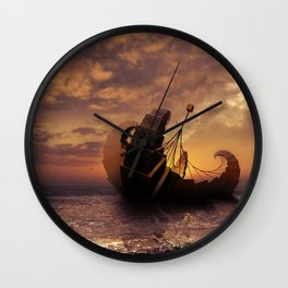 A Ship for All Destinations Wall Clock