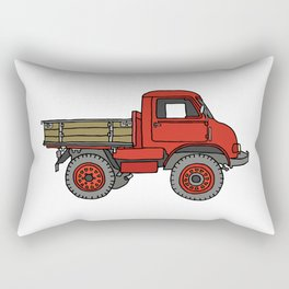 Red truck / transporter Rectangular Pillow