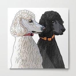 Pair of Poodles Metal Print
