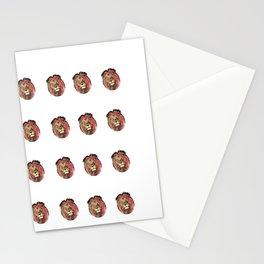 Lion Outburst Stationery Cards