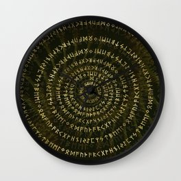 Elder Futhark Spiral Art Wall Clock