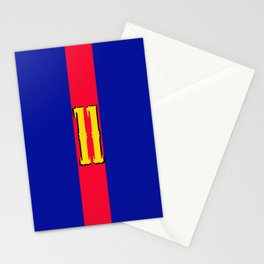 football team 1 number eleven Stationery Cards