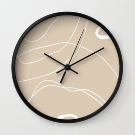 LINEE DI VITA - The lines of life - Modern abstract art hand drawn Wall Clock
