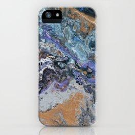 Molten Time (flow art on canvas) iPhone Case