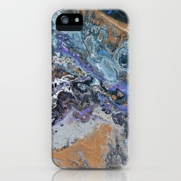 Molten Time (flow art on canvas) iPhone Case